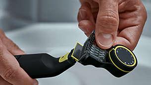 Le peigne de précision pour la coupe comporte 12longueurs possibles (de 0,5 à 9mm)