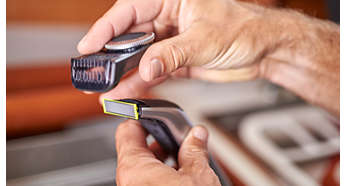 Precision trimming comb has 14 length settings (0.4 to 10 mm)