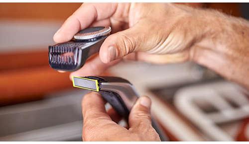 Präzisions-Trimmeraufsatz verfügt über 14 Längeneinstellungen (0,4 bis 10mm)