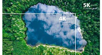 5K Ultra HD-oppløsning for svært klare bilder (5120x 2880)