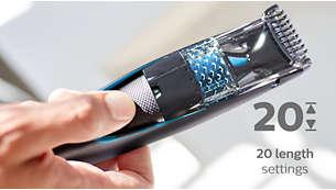 20hauteurs de coupe verrouillables, de 0,5 à 10mm, pas de 0,5mm