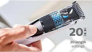 20 låsta längdinställningar, 0,5–10mm med 0,5mm precision