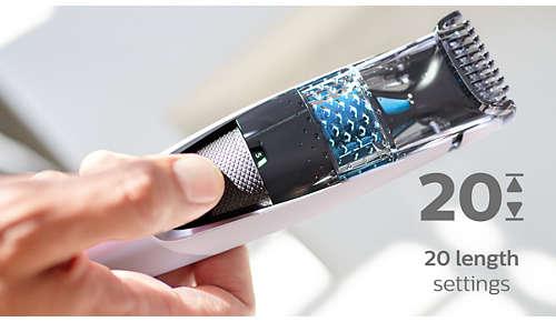 20nastavení délky se zajištěním volby, 0,5–10mm spřesností 0,5mm