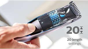 20 låsbare længdeindstillinger: 0,5-10 mm med 0,5 mm præcision