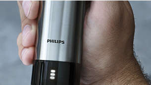 Quickly see the status of your trimmer's battery