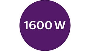 Dryer: 1600W drying power for perfect salon results