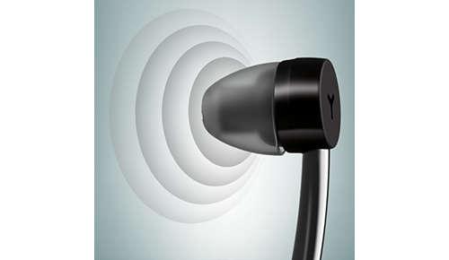 Hoogwaardige neodymium-drivers van 15 mm zorgen voor helder en krachtig geluid