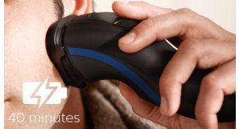 Вісім годин заряджання для 40хвилин автономного гоління