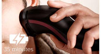 充電八小時可無線刮鬍 35 分鐘