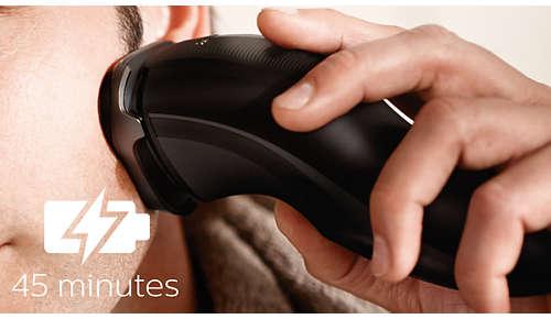 45minutos de afeitado sin cable después de 8 horas de carga