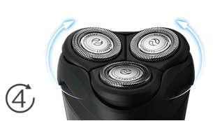 Cabezales Flex de 4 direcciones para afeitar fácilmente cada curva
