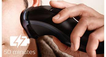 50minutos de afeitado sin cable después de una hora de carga