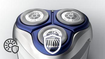 A lekerekített szélek könnyedén siklanak a bőrén a gyengéd borotválkozásért