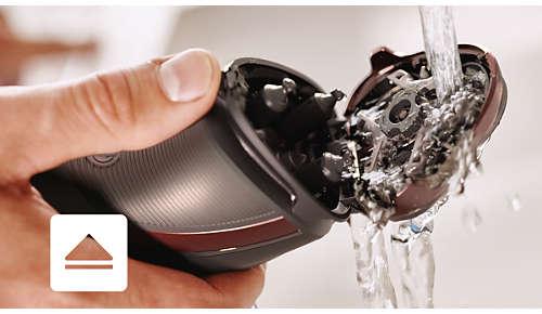 Scheerapparaat kan worden schoongespoeld onder de kraan