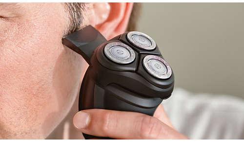 Perfekt för trimning av polisonger och mustasch