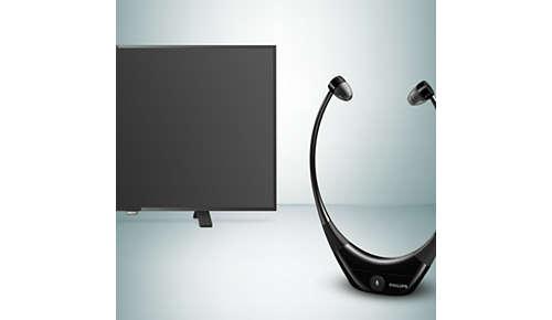 Compatibel met alle TV's met optische en 3,5 mm audio-ingang