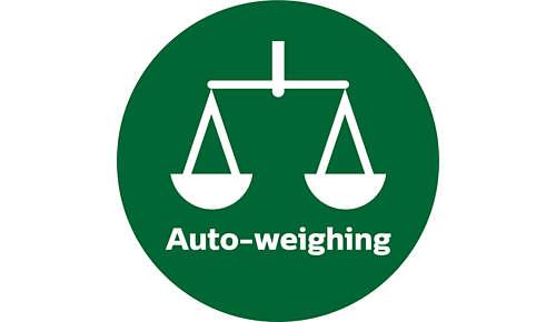 Integrierte automatische Wiegefunktion