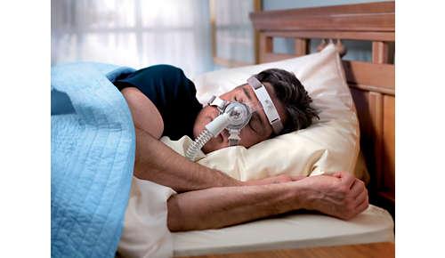 Nopeuttaa maskin säätämistä ja asettamista kasvoille