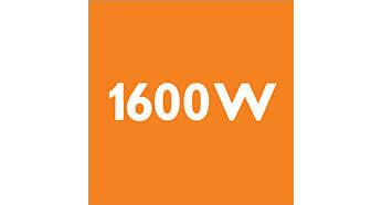 1600 Watt motor for high performance