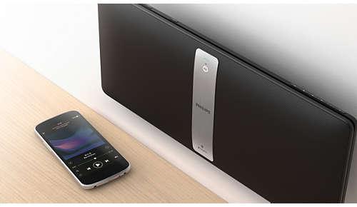 Draadloos muziek afspelen in één kamer via Bluetooth