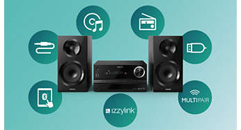 Stream all your music via izzylink™