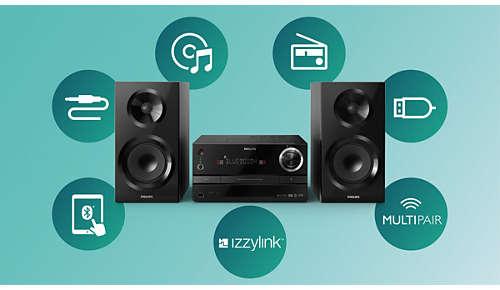 Al uw muziek streamen via izzylink™