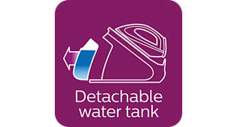 2.2L XL detachable water tank, ideal for families