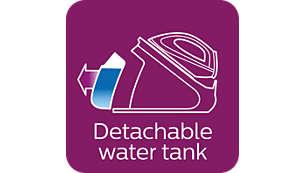 Extra groot afneembaar waterreservoir van 2,2 l, ideaal voor gezinnen
