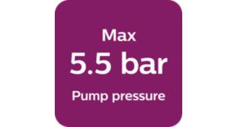 Максимальное давление насоса — 5,5бар