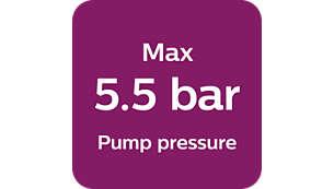 Pompdruk max. 5,5 bar