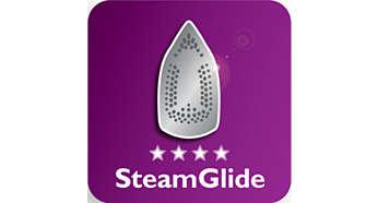 Glisse parfaite grâce à la semelle en céramique SteamGlide