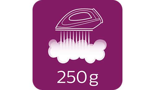 Dampfstoß von bis zu 250g