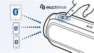 Wissel direct van muziek tussen drie apparaten met MULTIPAIR