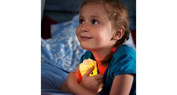 Miękka, miła i bezpieczna w dotyku lampka
