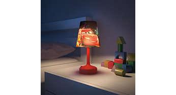 Ideală pentru a crea o atmosferă discretă în dormitorului copilului tău