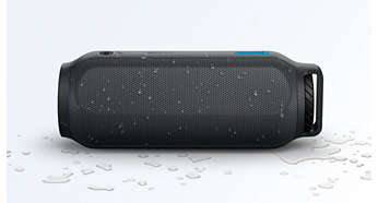 Den stänksäkra designen passar perfekt i våta förhållanden