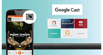Easily send music from phone to speaker with Google Cast