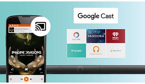 Eenvoudig muziek verzenden van telefoon naar luidspreker met Google Cast