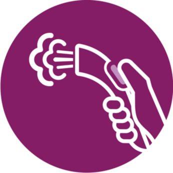 Элементы управления режимами подачи пара на рукоятке