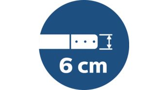 6 cm slim design to clean under low spaces