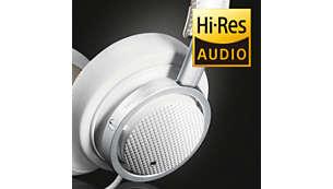 Звук высокого разрешения обеспечивает максимально качественное воспроизведение музыки