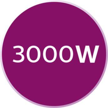 Công suất mạnh mẽ 3000W để làm nóng nhanh và ủi hiệu quả