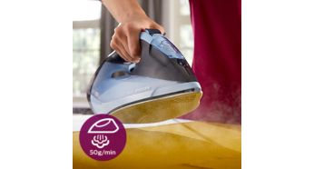 Steam output of up to 50 g/min for best crease removal - Philips Azur Steam Iron