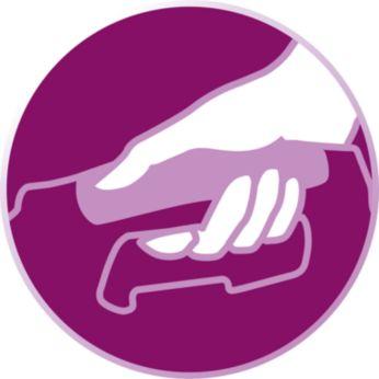 Ütüleme sırasında rahat tutuş için kullanışlı tutma kolları