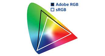 Estándares de color profesional 99% AdobeRGB, 100% sRGB