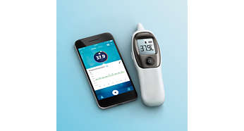 Automatische Synchronisation mit Philips health app über Bluetooth®