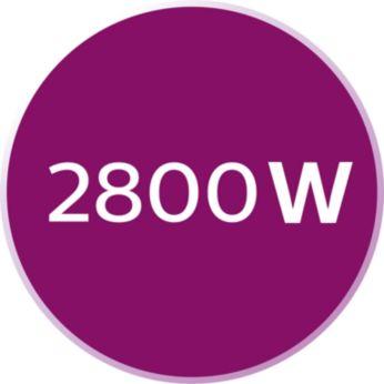 Мощность 2800Вт обеспечивает быстрый нагрев и безупречное глажение