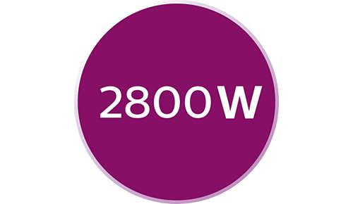 2800 W voor snel opwarmen en krachtige prestaties