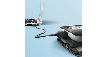 Keine Batterien erforderlich: wiederaufladbar mit USB-Kabel