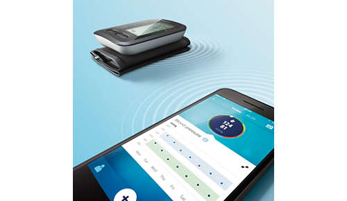 Automatically syncs to the Philips health app via Bluetooth®